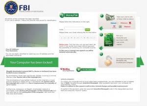 Fake FBI Warning, Malware, Ransomware