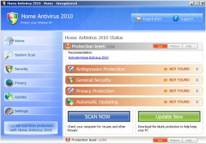 Malware home-antivirus-2010