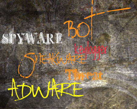 malware spyware bot sneakware keylogger trojan worm infection virus