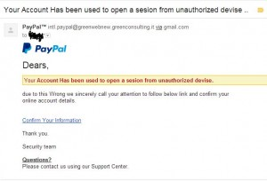 Paypal Spoof Email Sample