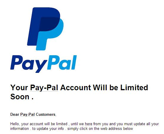 PayPal FAKE=Scam